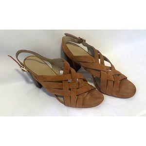 Ann Taylor size 11 criss cross leather heels